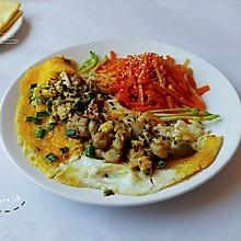 牡蛎煎蛋卷煎饼