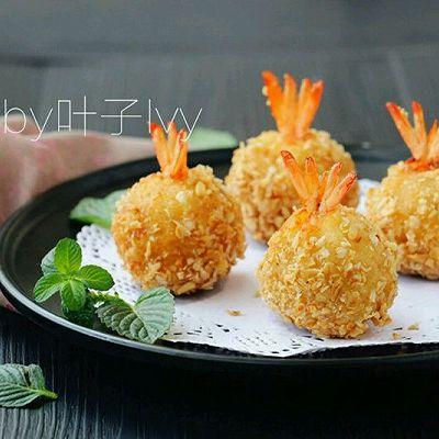 洋芋凤尾虾球