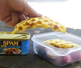 葱香午餐肉华夫饼的做法
