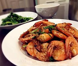 爆炒基围虾的做法