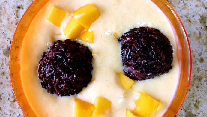 经典港式甜品一一芒果黑糯米甜甜