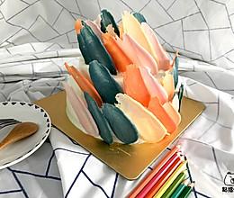 笔触蛋糕的做法
