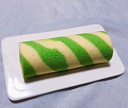 菠菜条纹蛋糕卷的做法