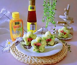 豌豆汁心饭团 太太乐鲜鸡汁蒸鸡原汤的做法