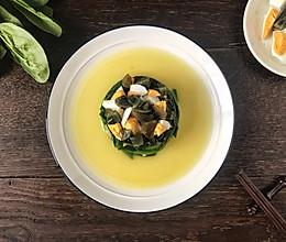 金银蛋浸菠菜的做法
