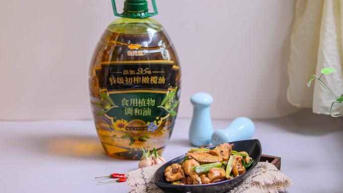简单易做的家常菜,青蒜炒鸡