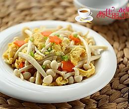 海鲜菇炒鸡蛋的做法