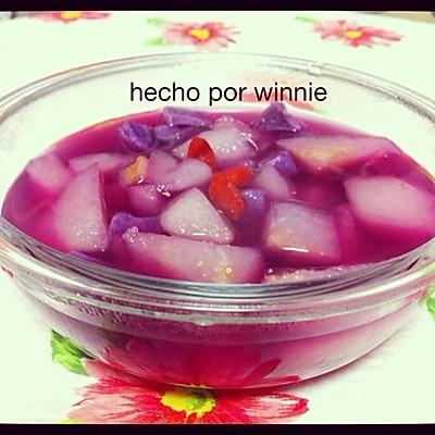 紫薯雪梨汤