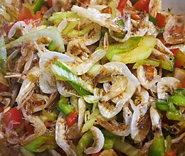 虾皮拌辣椒的做法