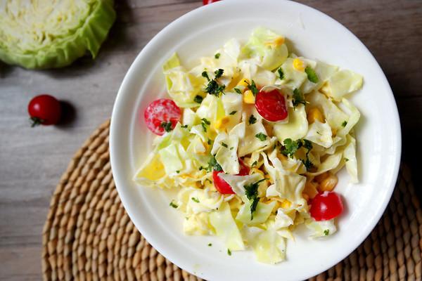 超模卷心菜沙拉#春天不减肥,夏天肉堆堆#的做法