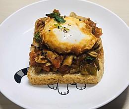 #换着花样吃早餐#高颜值brunch:shakshuka的做法