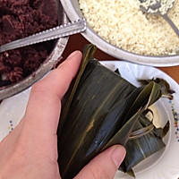 闹端午!碱水红豆粽(新手四角包法)的做法图解18