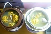 新手电炖盅排骨玉米的做法