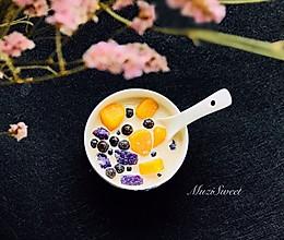 #网红美食我来做#黑糖撞奶珍珠芋圆的做法