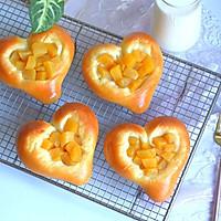 超软爱心黄桃面包(波兰种)的做法图解19