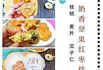 #麦子厨房小红锅# 奶香坚果红枣糕的做法