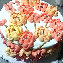 奶油霜裱花蛋糕#豆果5周年#