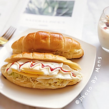 牛角包三明治——10分钟快手早餐