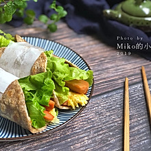 #年味十足的中式面点#杂粮卷饼