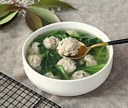 小青菜肉圆汤的做法