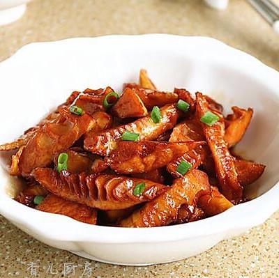 豆鼓五香油焖笋