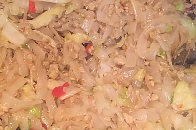 干炒瘦肉米粉