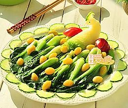 孔雀开屏吉祥菜——白果烩油菜的做法