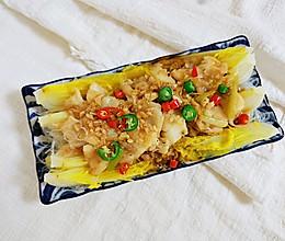 #换着花样吃早餐#蒜蓉娃娃菜粉丝蒸鳕鱼的做法