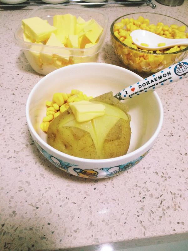 日本小吃-黄油玉米土豆的做法