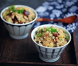 腊肉土豆焖饭#冰箱剩余食材大改造#的做法