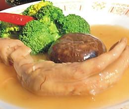 鲍汁花菇扣鹅掌 的做法