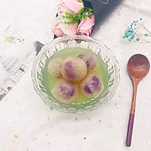 水晶紫薯汤圆