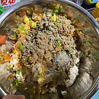 减脂快手菜——烤箱版豆腐杂蔬丸的做法图解3