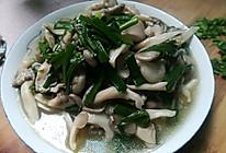 大蒜炒小平菇的做法