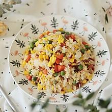 消灭剩饭神器,10分钟做好五彩蛋炒饭,一碗都吃不够