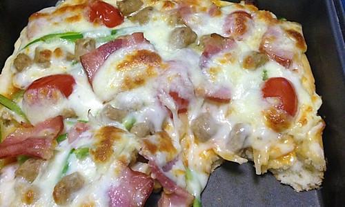 PIZZA足量肉肉披萨的做法