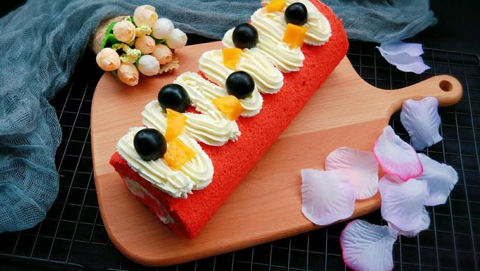 红丝绒大米蛋糕卷+#松下多面美味#