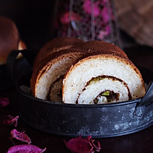 巧克力开心果面包