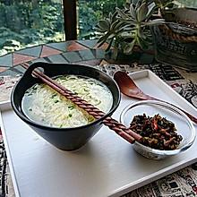 雪菜牛肉丝鸡汤面【广东的竹升面】蜜桃爱营养师私厨
