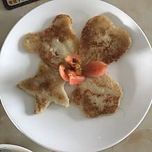 粘玉米煎饼