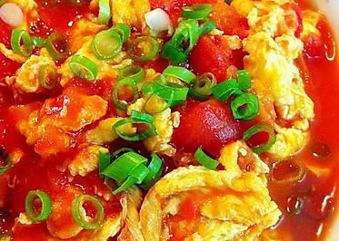 番茄炒蛋(加葱花版)