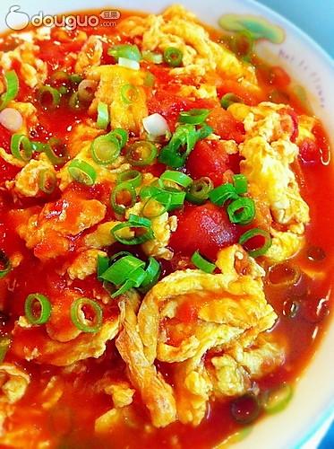 番茄炒蛋(加葱花版)的做法