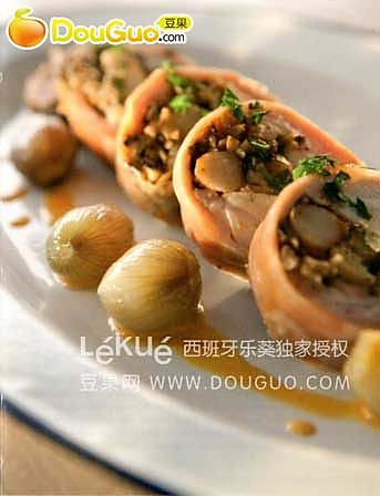 兔肉卷虾仁蘑菇的做法
