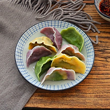 秋季养生菠菜鸡蛋素饺子
