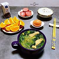 #一道菜表白豆果美食#粉条鲜肉菠菜汤的做法图解15