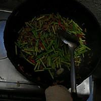 蒜苔肉丝的做法图解4