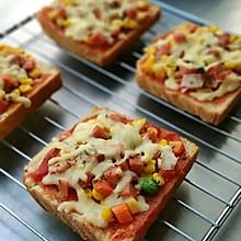 #丘比三明治#吐司披萨