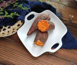 #父亲节,给老爸做道菜#三步做好:微波炉烤地瓜的做法