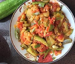 西红柿茄条-红配绿的做法