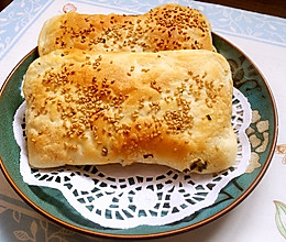 椒盐葱油烧饼(天然酵种版)的做法